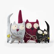 Velvet Cats 3d model