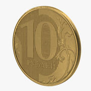 Монета 10 рублей 3d model