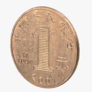 1 Yuan Coin Chiny 3d model