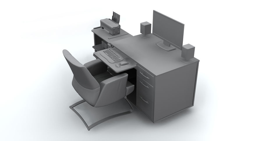 Computer  Desk  CPU royalty-free 3d model - Preview no. 16