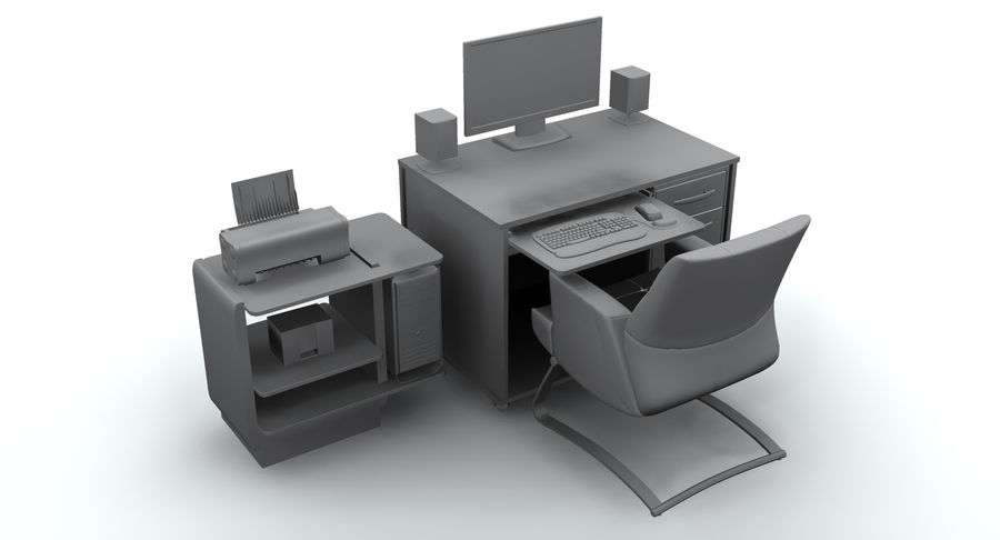 Computer  Desk  CPU royalty-free 3d model - Preview no. 15