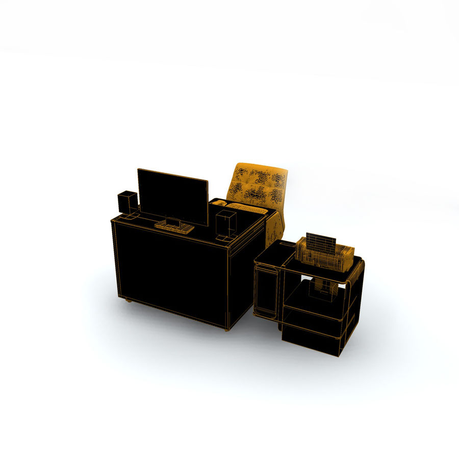 Computer  Desk  CPU royalty-free 3d model - Preview no. 14