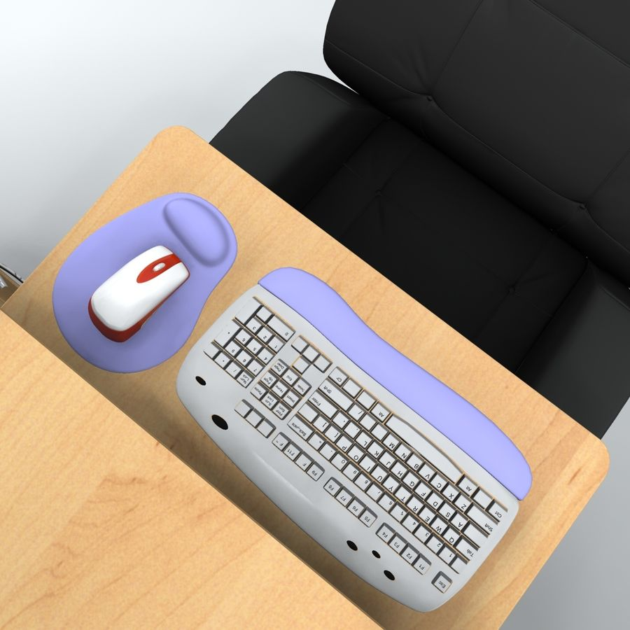 Computer  Desk  CPU royalty-free 3d model - Preview no. 9