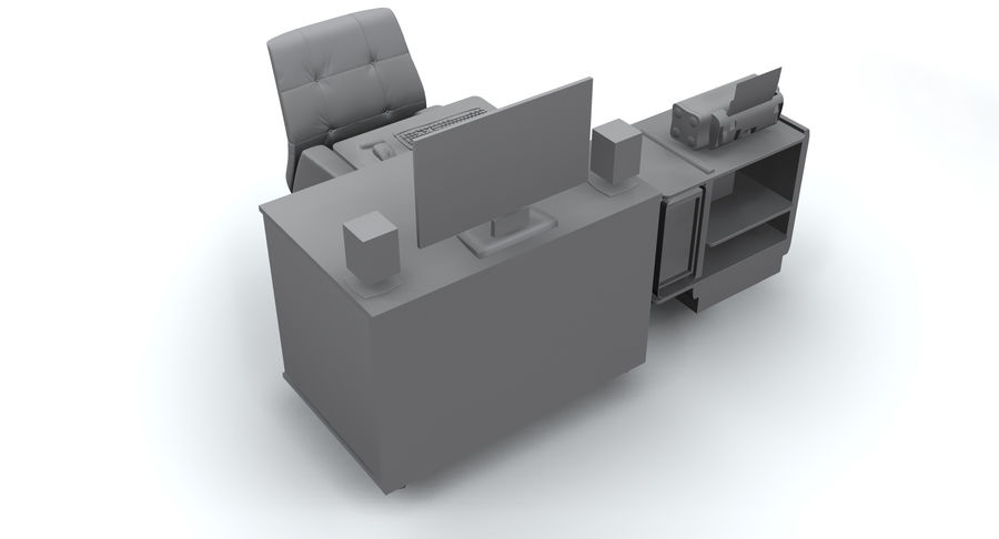 Computer  Desk  CPU royalty-free 3d model - Preview no. 17