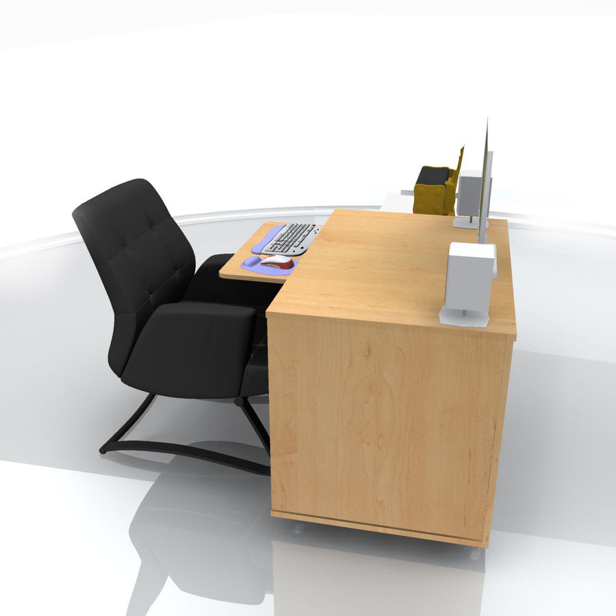 Computer  Desk  CPU royalty-free 3d model - Preview no. 10