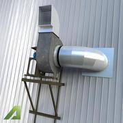 System wentylacji przemysłowej 3d model