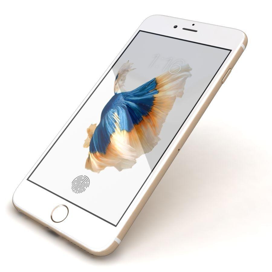 Apple iPhone 6s Artı Altın royalty-free 3d model - Preview no. 22