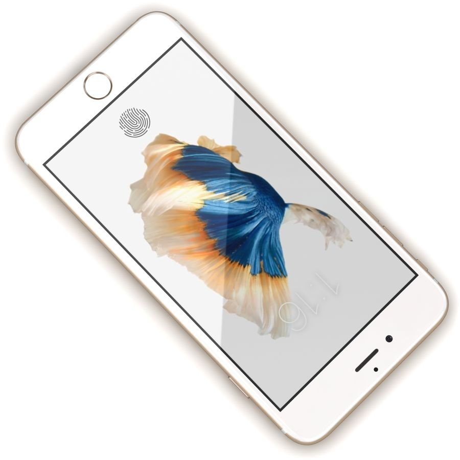 Apple iPhone 6s Artı Altın royalty-free 3d model - Preview no. 8