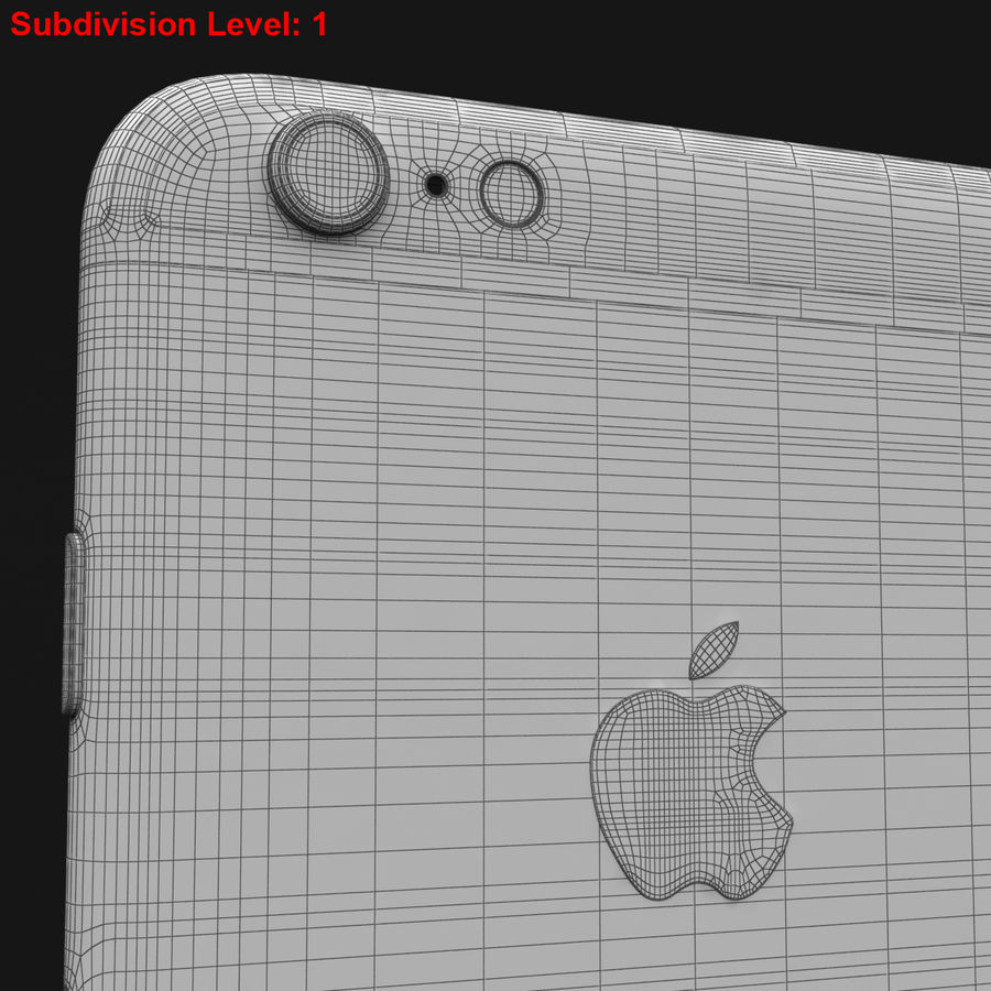 Apple iPhone 6s Artı Altın royalty-free 3d model - Preview no. 36