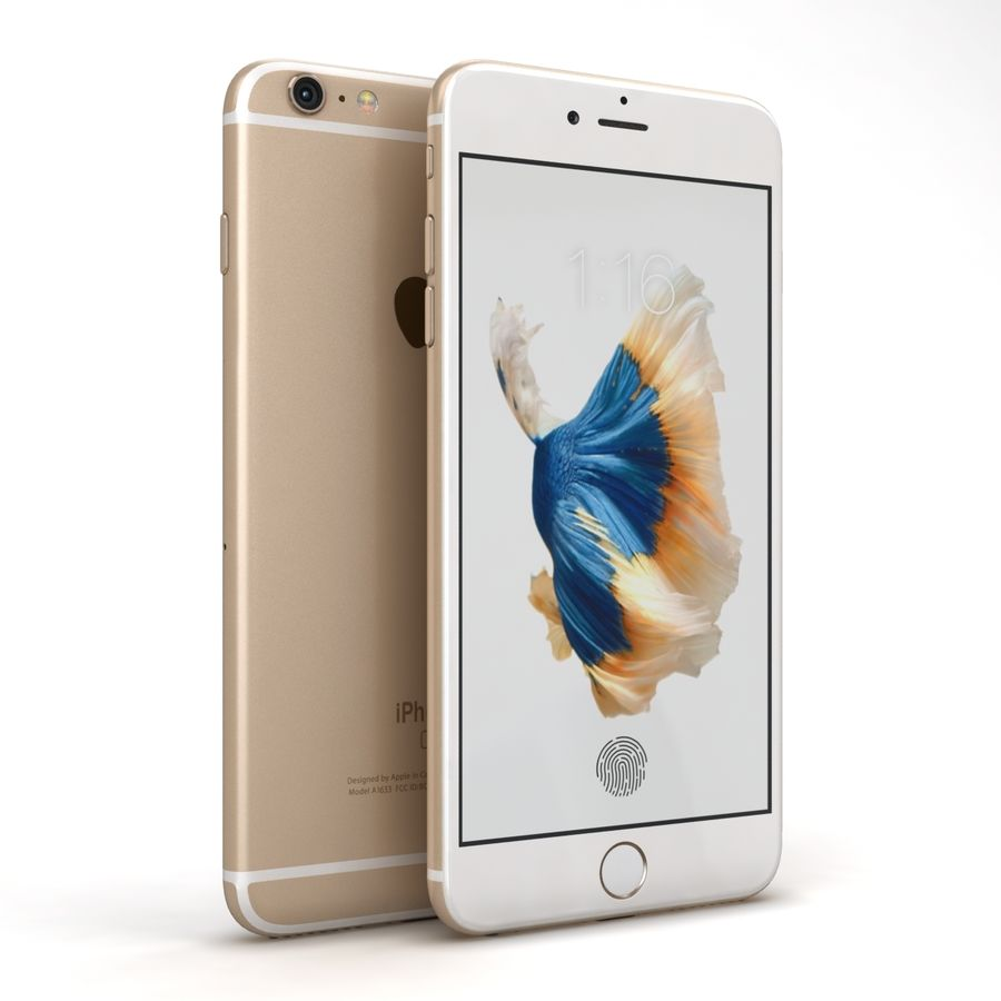 Apple iPhone 6s Artı Altın royalty-free 3d model - Preview no. 2