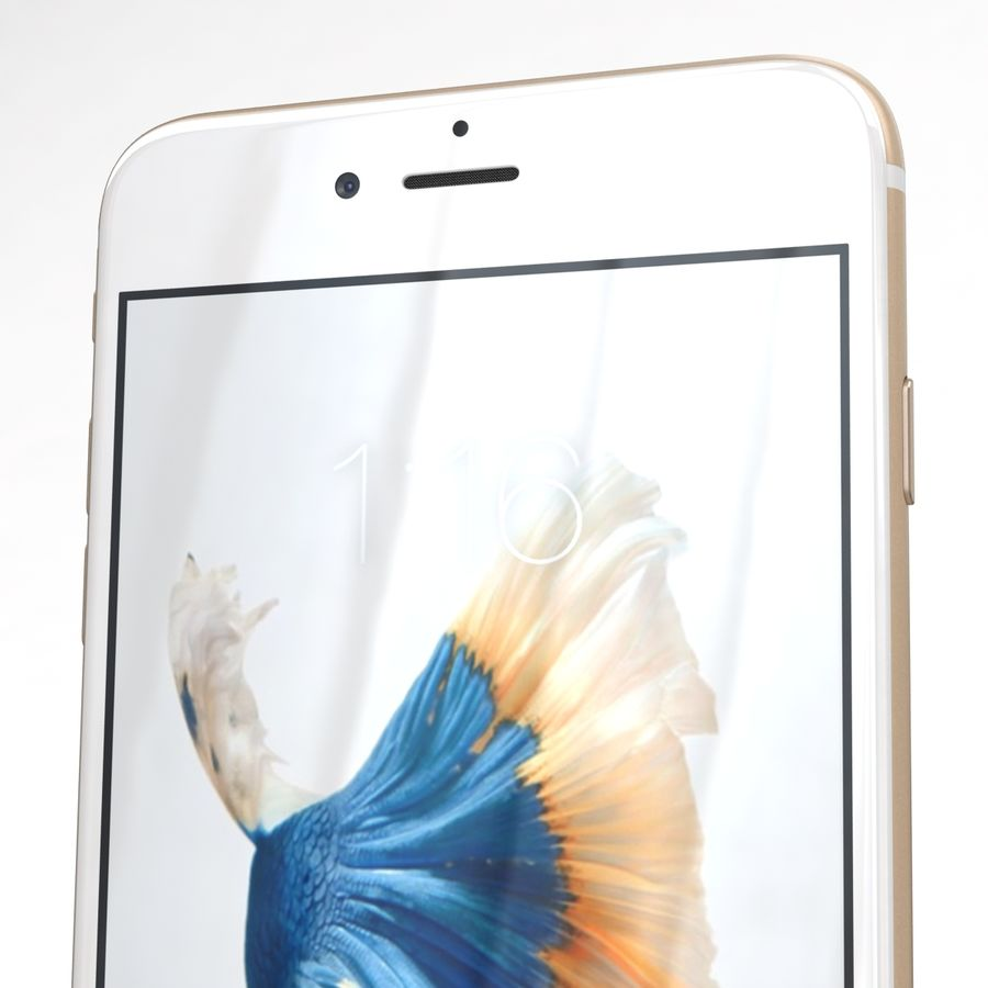 Apple iPhone 6s Artı Altın royalty-free 3d model - Preview no. 25