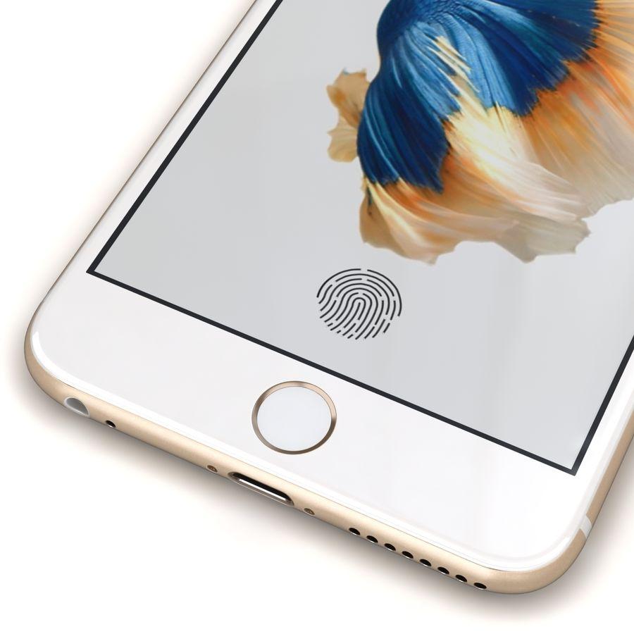 Apple iPhone 6s Artı Altın royalty-free 3d model - Preview no. 9