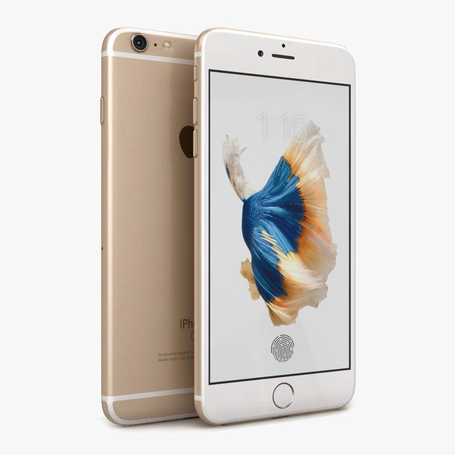 Apple iPhone 6s Artı Altın royalty-free 3d model - Preview no. 1