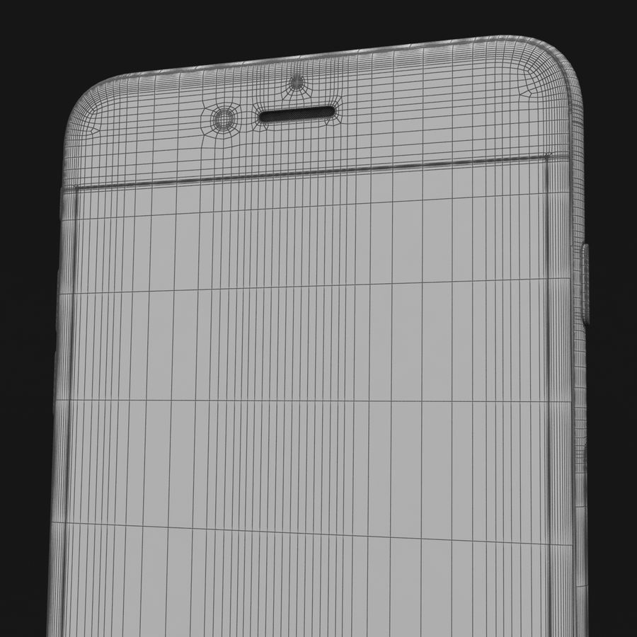 Apple iPhone 6s Artı Altın royalty-free 3d model - Preview no. 42