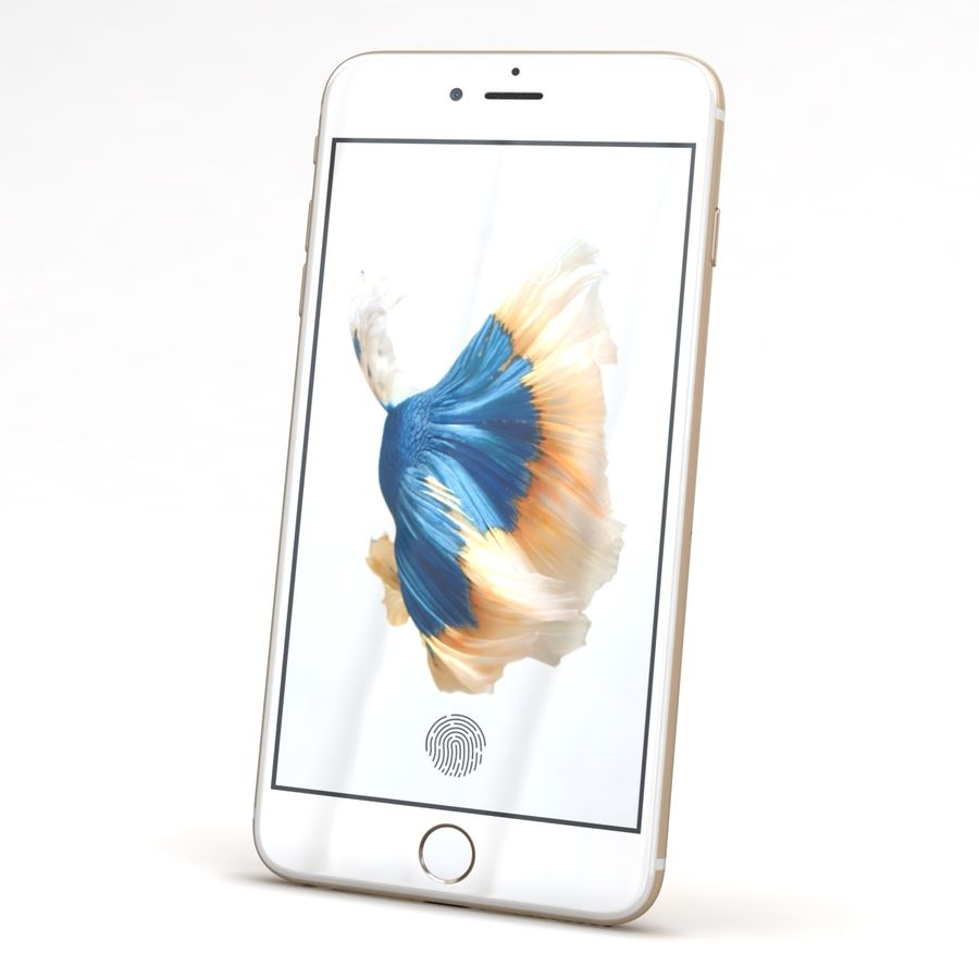 Apple iPhone 6s Artı Altın royalty-free 3d model - Preview no. 3