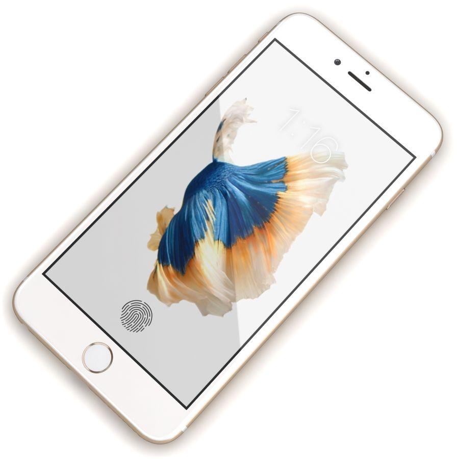 Apple iPhone 6s Artı Altın royalty-free 3d model - Preview no. 7