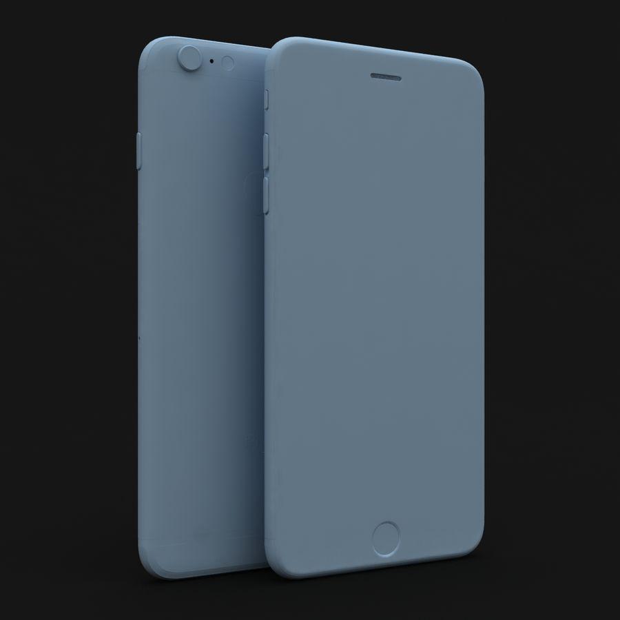 Apple iPhone 6s Artı Altın royalty-free 3d model - Preview no. 27