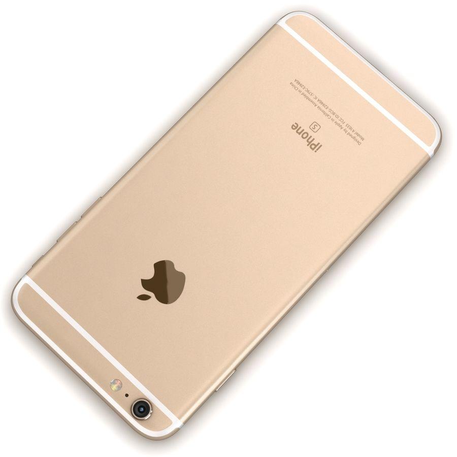 Apple iPhone 6s Artı Altın royalty-free 3d model - Preview no. 12