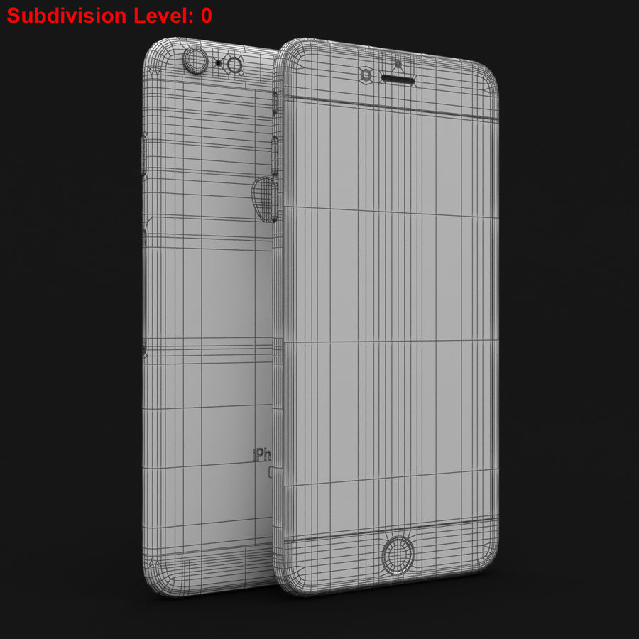 Apple iPhone 6s Artı Altın royalty-free 3d model - Preview no. 29