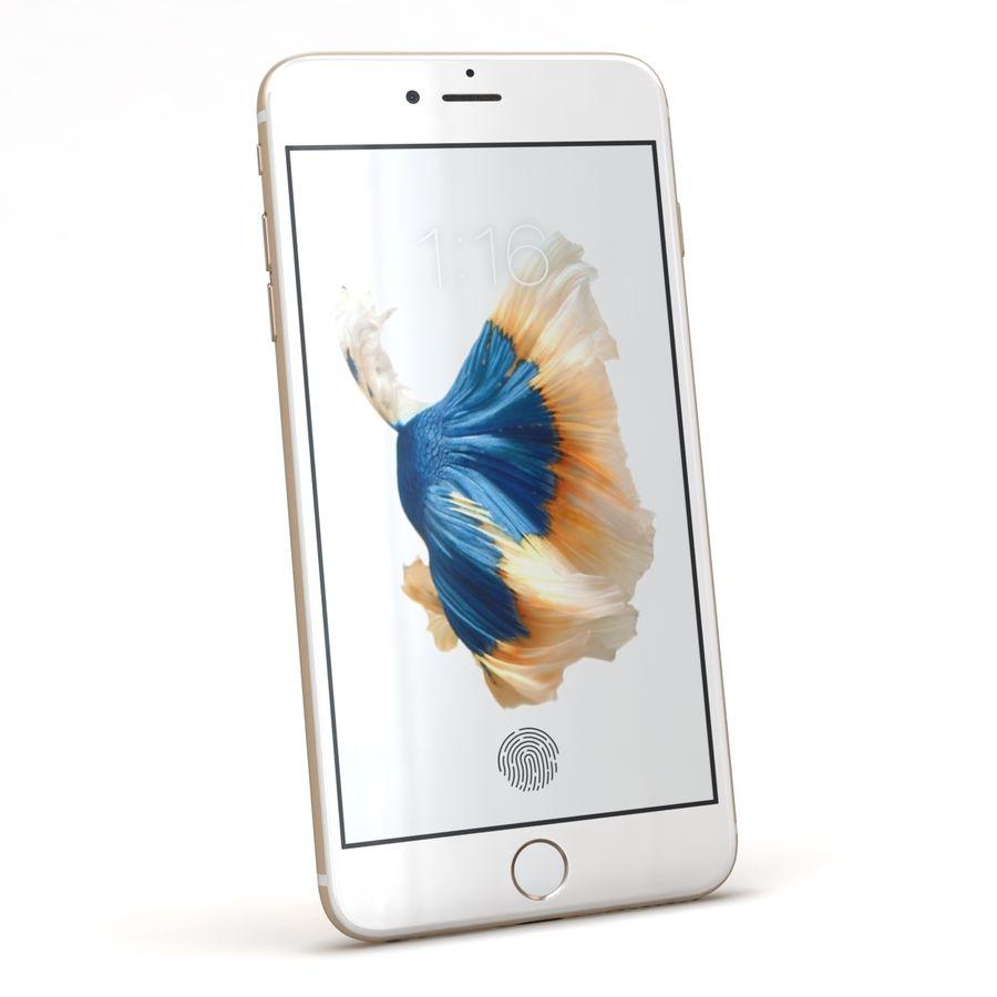 Apple iPhone 6s Artı Altın royalty-free 3d model - Preview no. 4