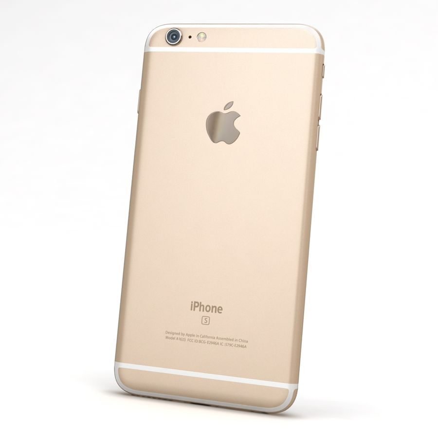 Apple iPhone 6s Artı Altın royalty-free 3d model - Preview no. 5