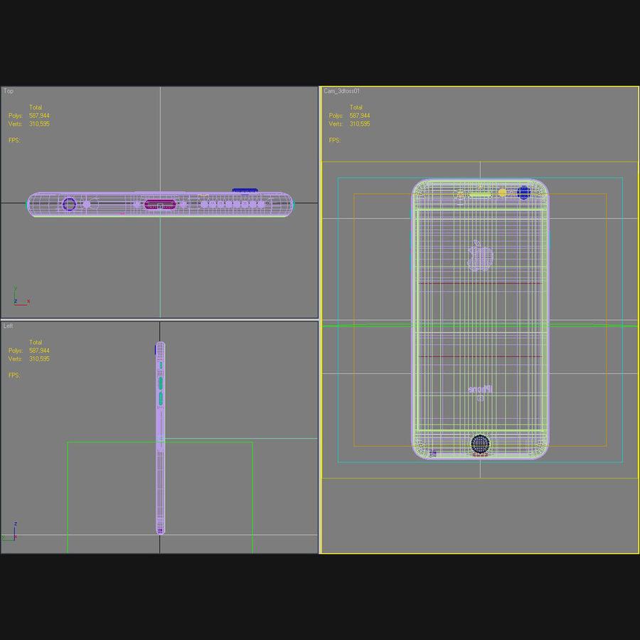 Apple iPhone 6s Artı Altın royalty-free 3d model - Preview no. 45