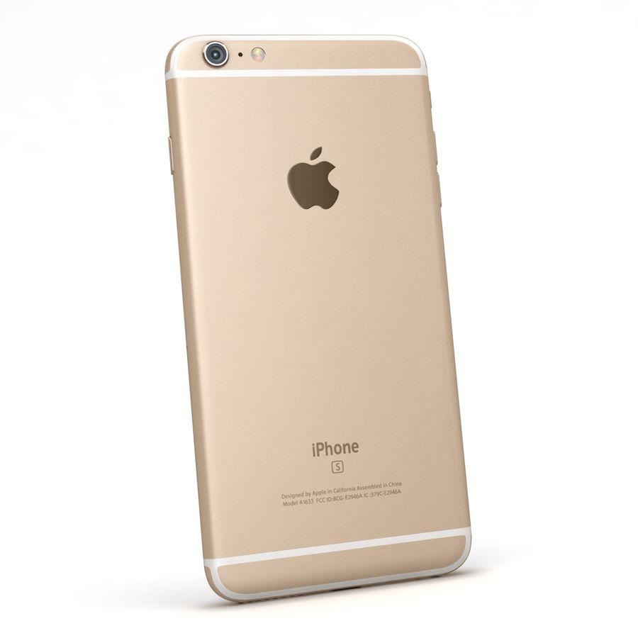 Apple iPhone 6s Artı Altın royalty-free 3d model - Preview no. 6
