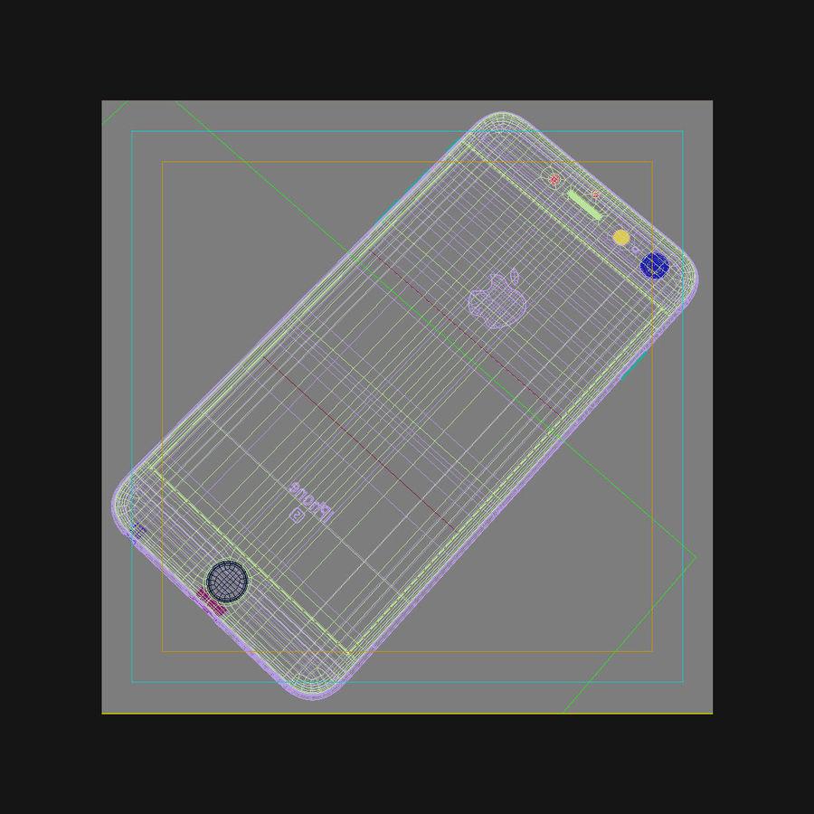 Apple iPhone 6s Artı Altın royalty-free 3d model - Preview no. 44