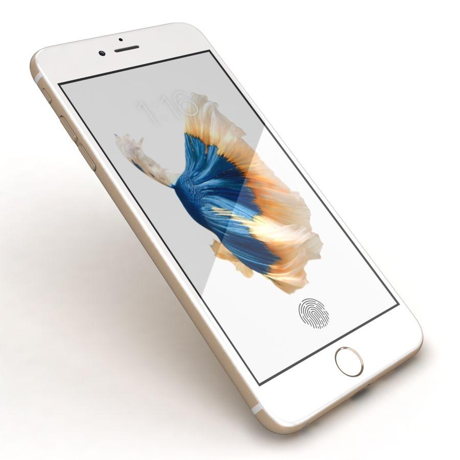 Apple iPhone 6s Artı Altın royalty-free 3d model - Preview no. 21