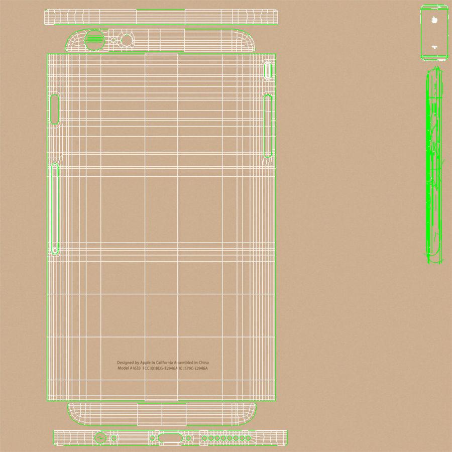 Apple iPhone 6s Artı Altın royalty-free 3d model - Preview no. 26