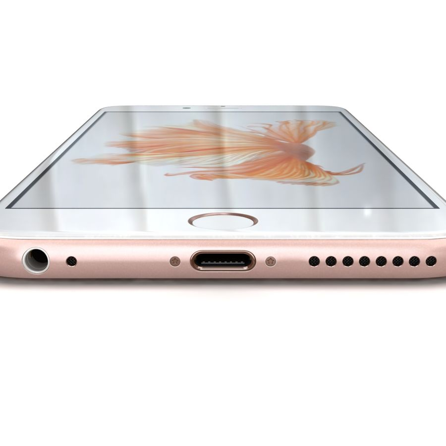 Apple iPhone 6s Plus Rose Gold royalty-free 3d model - Preview no. 16