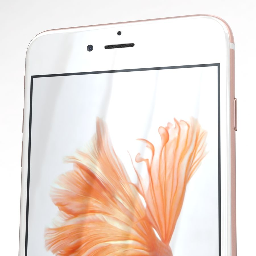 Apple iPhone 6s Plus Rose Gold royalty-free 3d model - Preview no. 25