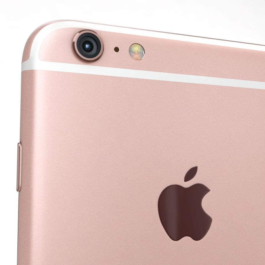 Apple iPhone 6s Plus Rose Gold royalty-free 3d model - Preview no. 20