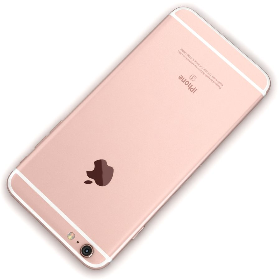 Apple iPhone 6s Plus Rose Gold royalty-free 3d model - Preview no. 12