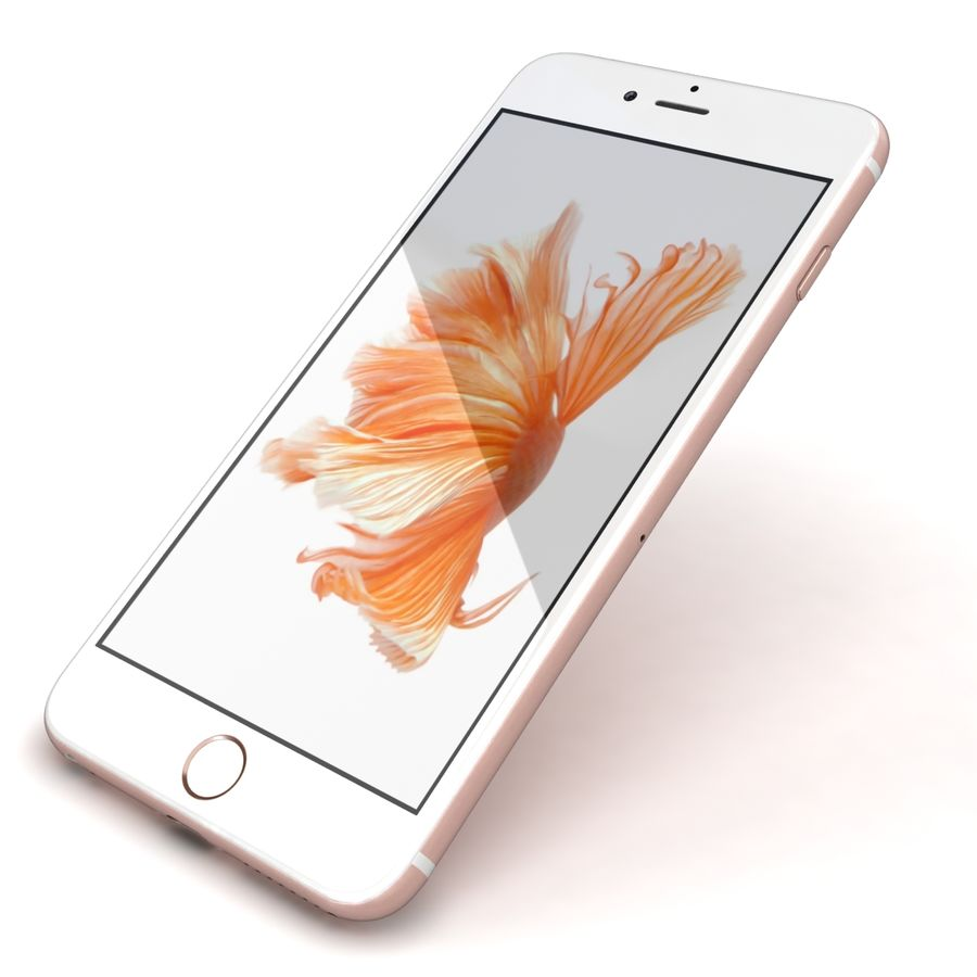 Apple iPhone 6s Plus Rose Gold royalty-free 3d model - Preview no. 22