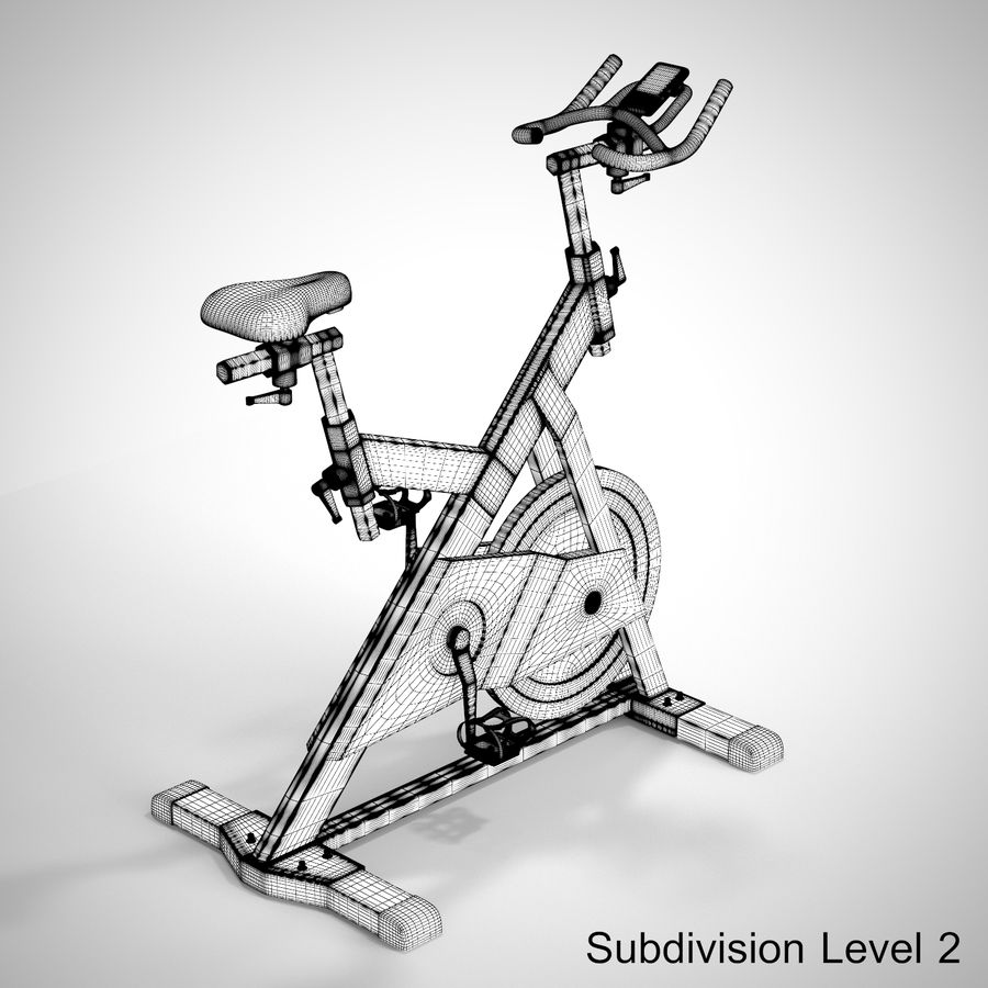 Exercise Bike royalty-free 3d model - Preview no. 26