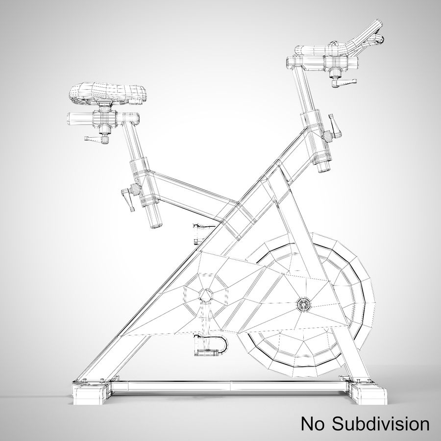 Exercise Bike royalty-free 3d model - Preview no. 21