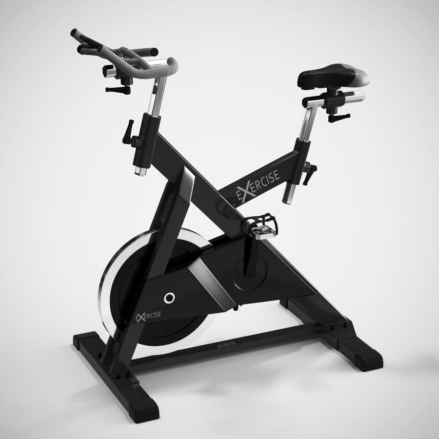 Exercise Bike royalty-free 3d model - Preview no. 3