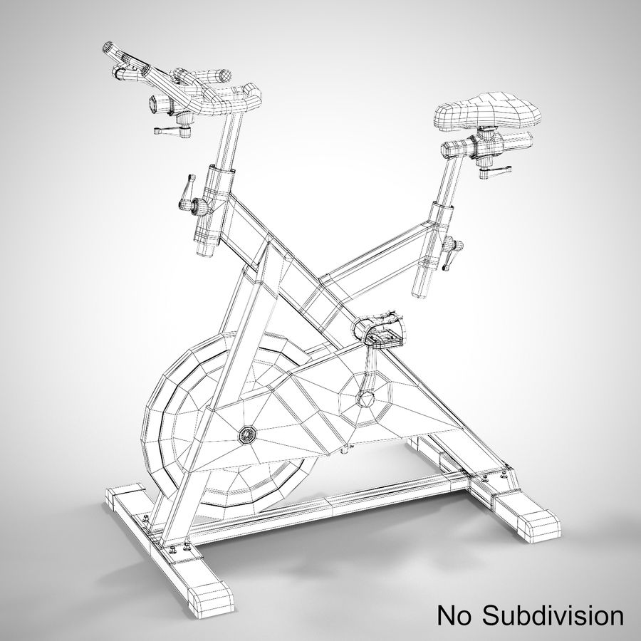 Exercise Bike royalty-free 3d model - Preview no. 19