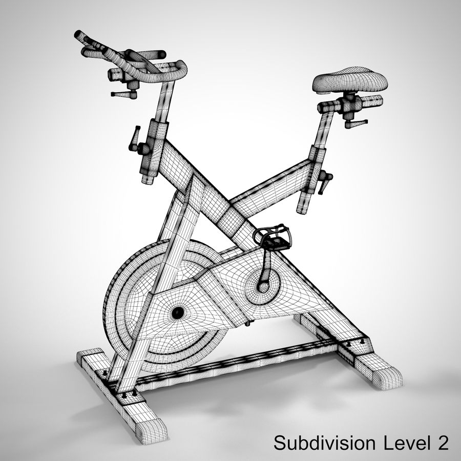 Exercise Bike royalty-free 3d model - Preview no. 27