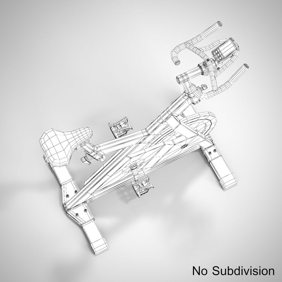 Exercise Bike royalty-free 3d model - Preview no. 20