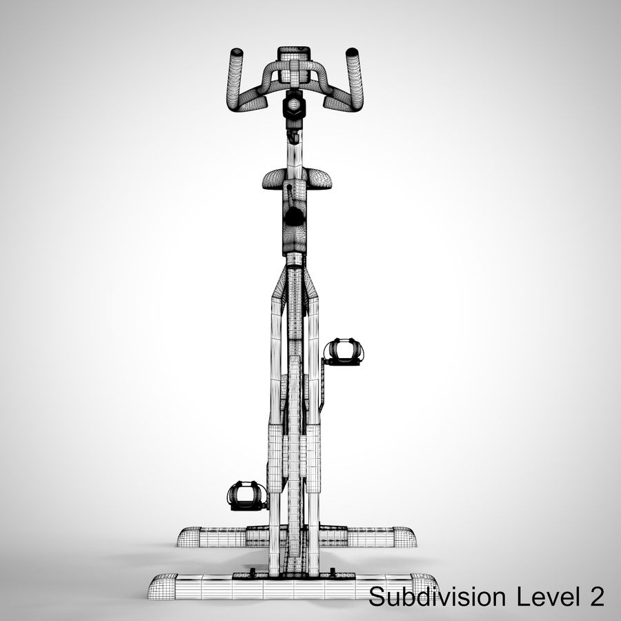 Exercise Bike royalty-free 3d model - Preview no. 30