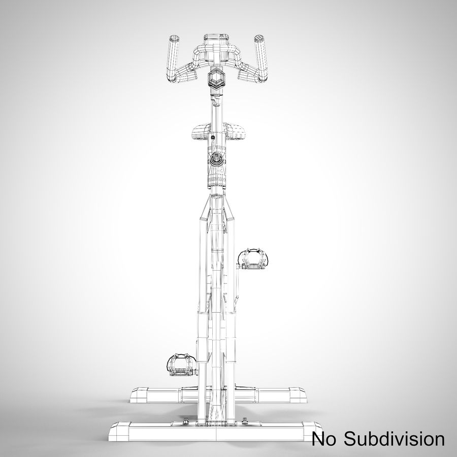 Exercise Bike royalty-free 3d model - Preview no. 22