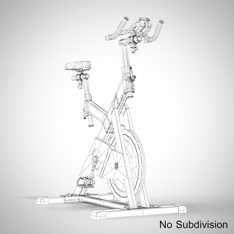 Exercise Bike royalty-free 3d model - Preview no. 24