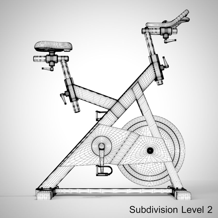 Exercise Bike royalty-free 3d model - Preview no. 29