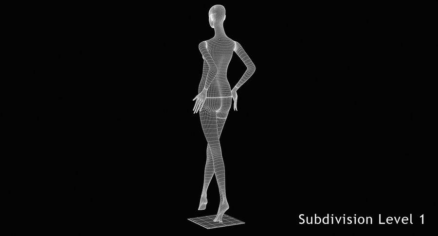 Pose de manequim distante Bonaveri royalty-free 3d model - Preview no. 12