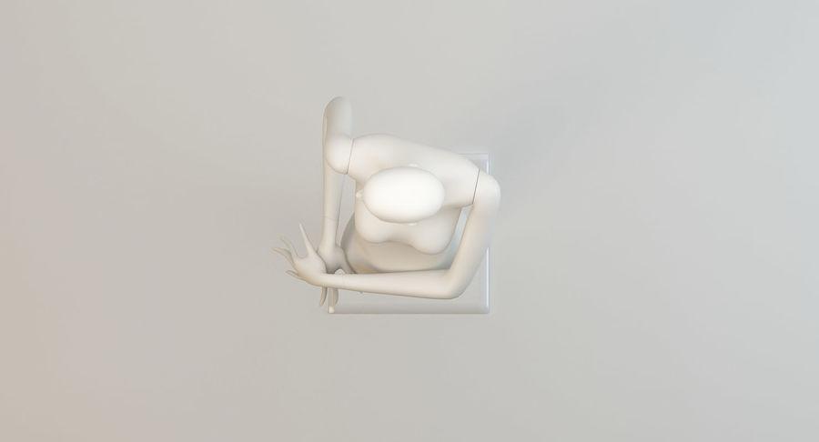 Pose de manequim distante Bonaveri C royalty-free 3d model - Preview no. 6