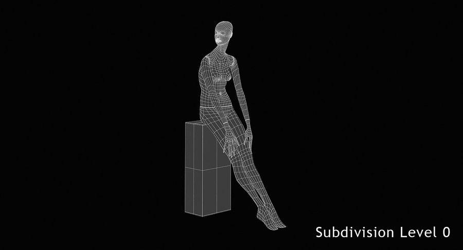 Pose de manequim distante Bonaveri D royalty-free 3d model - Preview no. 9