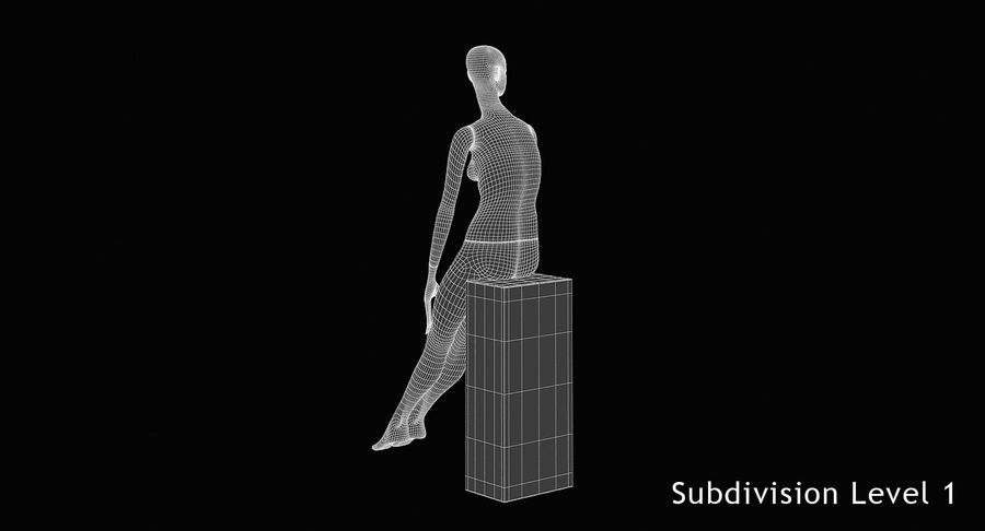 Pose de manequim distante Bonaveri D royalty-free 3d model - Preview no. 12