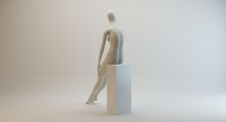 Pose de manequim distante Bonaveri D royalty-free 3d model - Preview no. 4
